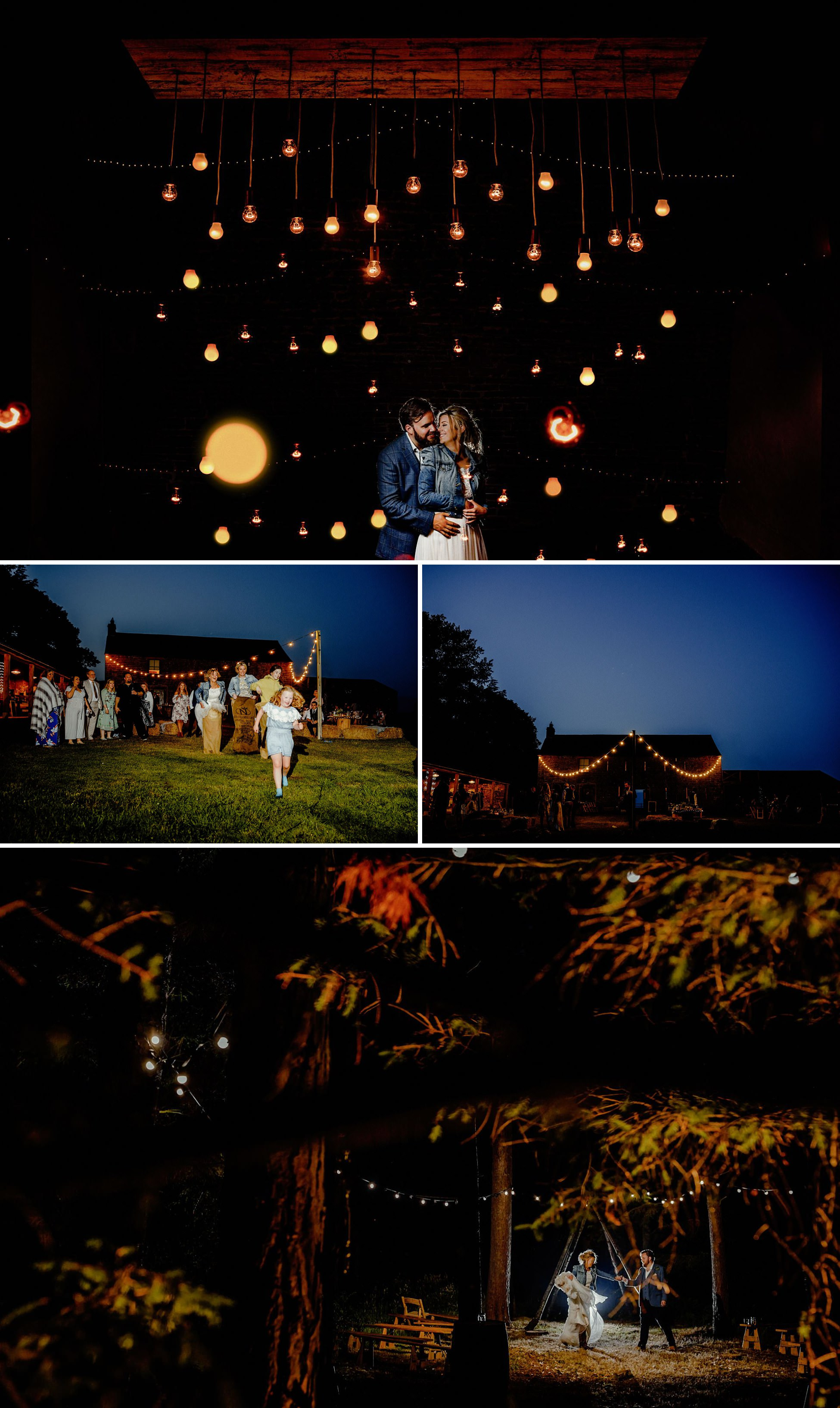 evening portraits, off camera flash, creative wedding photography at high barn, edenhall