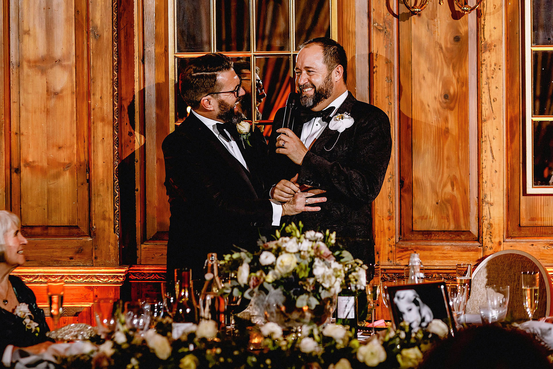 double speech from both grooms